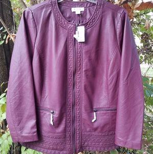 CJ Banks Vegan Leather Jacket